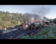 Grosmont shed, early morning.