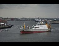 Cornelis Vrolijk opposite Fish Quay on Tyne