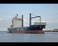 CMA  CGM Homere entering Tyne