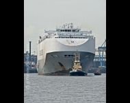 Hoegh America under tow Roseberry Cross
