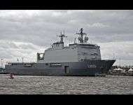 Rotterdam sails downriver to sea