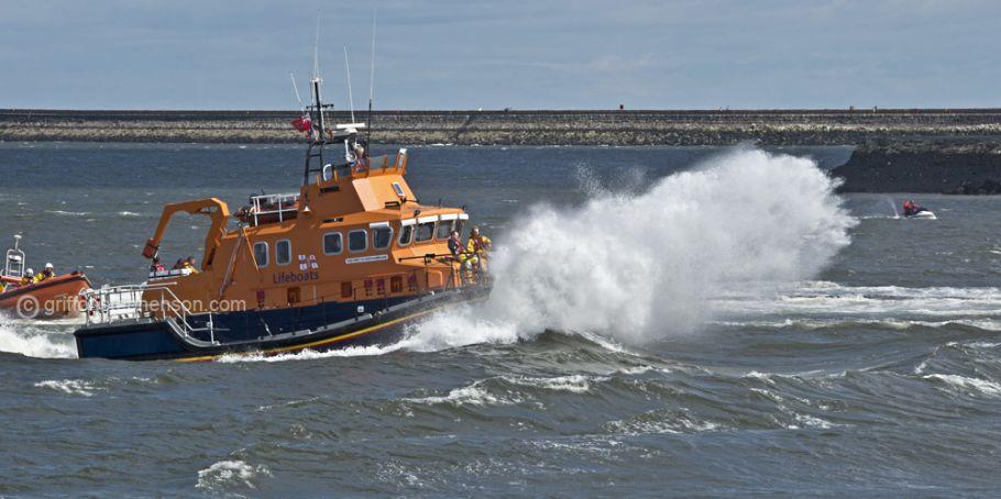 Lifeboat Hits Wave